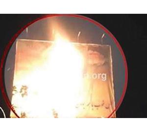 احتجاجات إيران تتجدد وحرق صور خامنئي