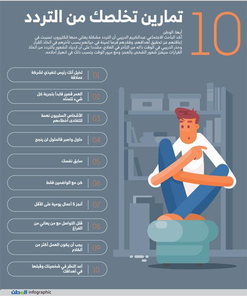 10 تمارين تخلصك من التردد
