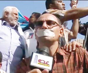 إرهاب الحوثي يواصل قمع الحريات الإعلامية