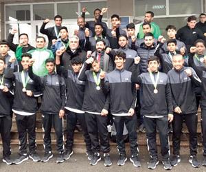 14 ميدالية لأخضر الكاراتيه