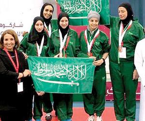 5 ميداليات حصيلة السعوديات في عربية السيدات