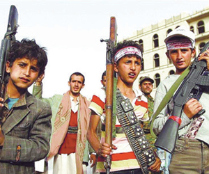 ميليشيات الحوثي تخطف 33 طفلا في صعدة