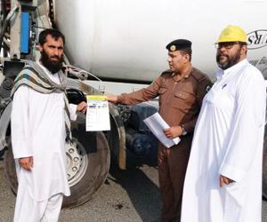 حملة للتوعية بحواجز الأمان للشاحنات