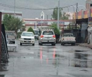 أمطار محايل تقطع الكهرباء