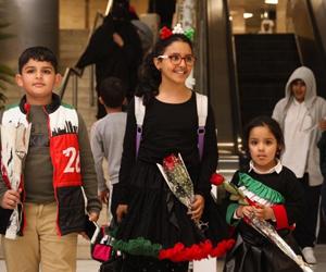 مطار الملك خالد يشارك الكويتيين فرحة اليوم الوطني
