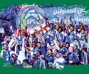 الهلال يتصدر قائمة المتوجين الـ 5 ببطولات الموسم