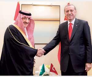 ولي العهد في أنقرة لتعزيز العلاقات ومكافحة الإرهاب