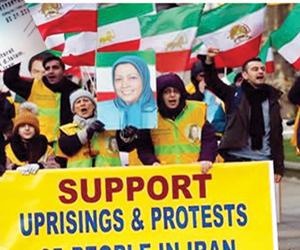 لاجئون إيرانيون يرفضون صمت أوروبا على إرهاب الملال