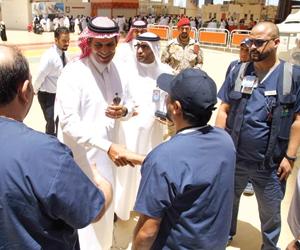 وزير النقل يتفقد صالات الحجاج بمطار جدة