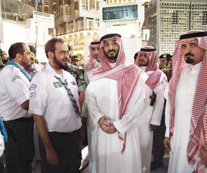 عبدالله بن بندر يتفقد الجهود الأمنية بالمسجد الحرا