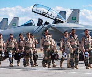 بمشاركة القوات الجوية السعودية انطلاق تمرين العلم