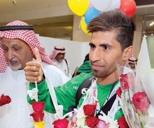 استقبال أبطال الأولمبياد الخاص بالورود
