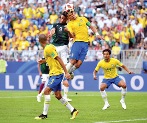 البرازيل تتجاوز المكسيك وبلجيكا تكسر عناد اليابان