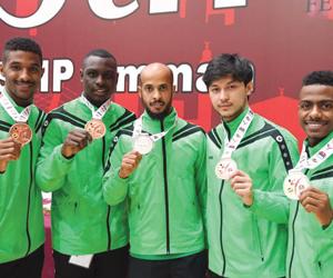 4 لاعبين يمثلون أخضر الكاراتيه