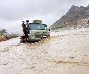 تضرر 29 أسرة من أمطار جازان