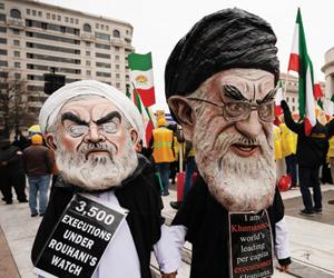 المعارضة الإيرانية تتظاهر في واشنطن وتندد بإرهاب ا